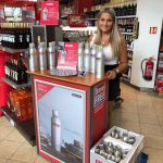 DANZKA tasting promotion at various Travel Free border shop at the Czech border.