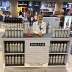 DANZKA vodka airport promotin in moscow sheremetyevo