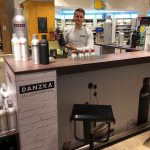 DANZKA vodka airport promotion vienna